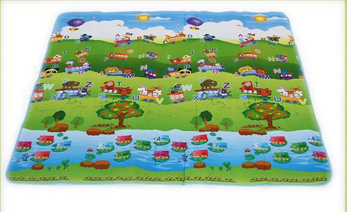 2015 Hot Sale New Style Double-Site Baby Play Mat Ocean And Zoo Child Beach Mat Picnic Carpet Baby Crawling Mat 270368(China (Mainland))