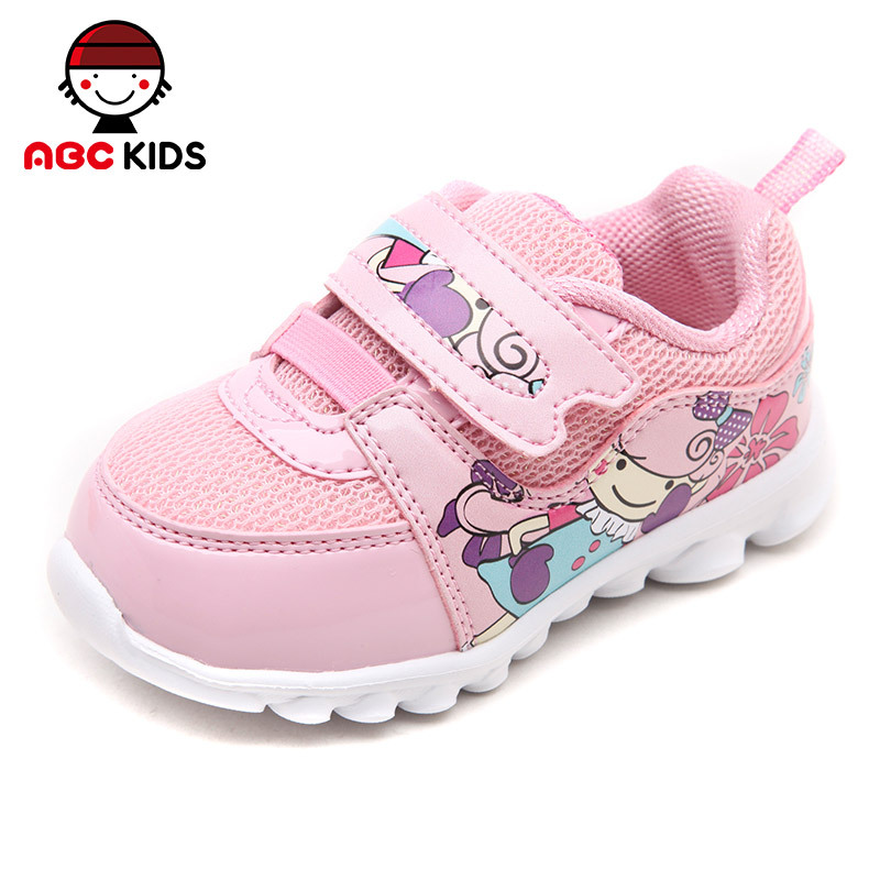 ABC KIDS Baby Shoes 2015 New Style Spring & Autumn Kids Trainer Sneakers Children Breathable Mesh Sport Running Shoes for Girls(China (Mainland))