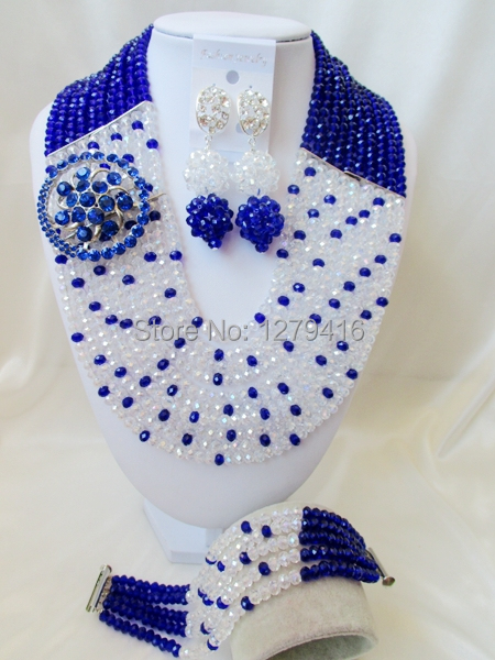 High quality African bead, Nigeria wedding suit, bridal jewelry set, crystal necklace, bracelet T-429<br><br>Aliexpress