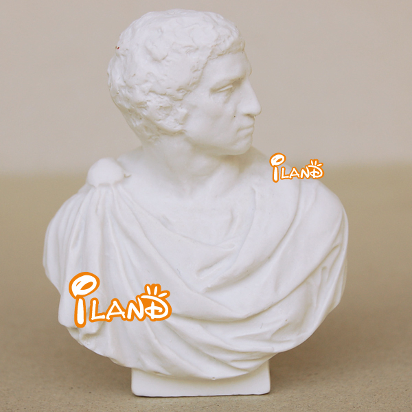 1/12 Dollhouse Miniature Brutus Statue Bust Resin Exquisite Well Made HO028J