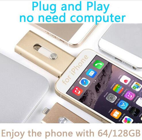 For Iphone, Plug And Play Lightning OTG USB Flash Drive Memory Card Usb 32GB 64GB 128GB 512GB Stick Flash Disk On Key Pendrives(China (Mainland))