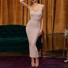 Ocstrade Vestidos תחבושת 2019 חדש כניסות קיץ מסיבת לילה נשים שמלת תחבושת סקסי זנגביל מקסי ארוך תחבושת שמלת Bodycon(China)