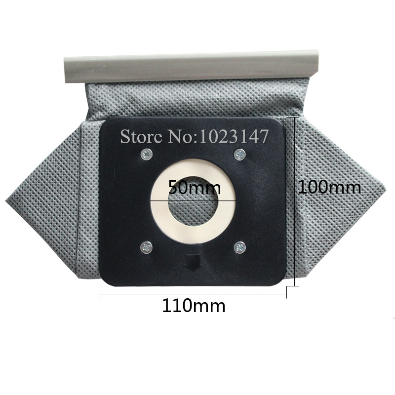 2 pieces lot Vacuum Cleaner Bag Non Woven Bags 110mm 100mm Plastic tray Washable Dust Bag