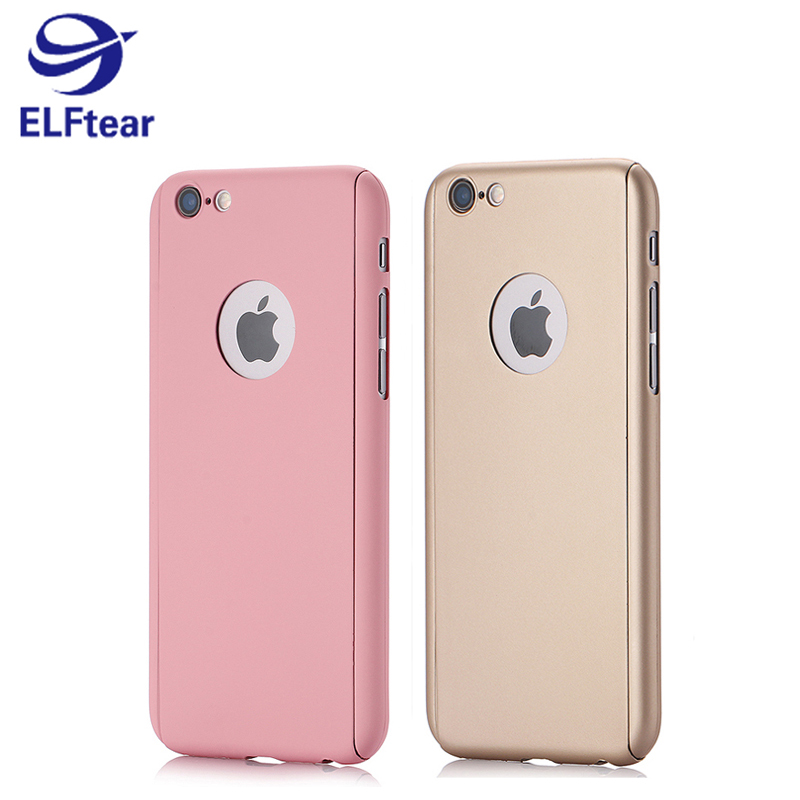 ELFTEAR A17 PC Phone Case Cover with Tempered Glass Screen Protector For Apple iPhone 6 6S