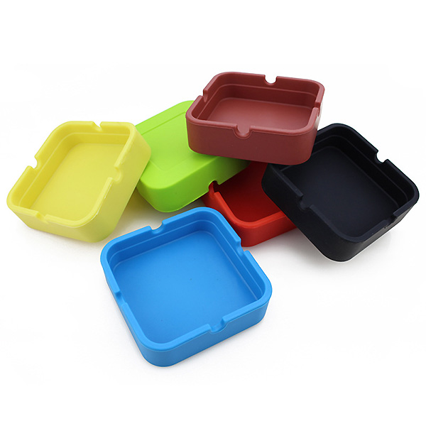 Square shape 6 Colors Office Car Interior Smokeless Cigarette Melamine Ashtray Holders Cup free shipping(China (Mainland))