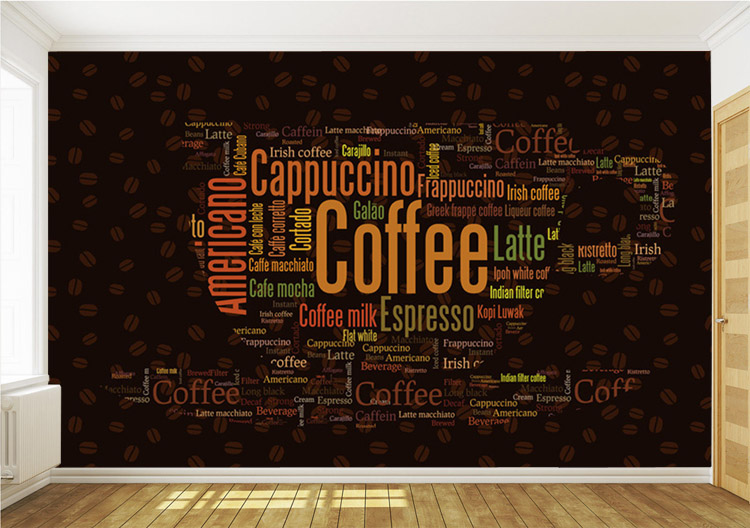 Wallpaper custom picture more detailed picture about for Mural coffee shop