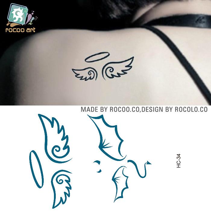 Значение тату крылья с именем