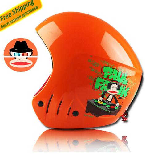 Kid ski helmet ABS CE certificate children ski open face helmet skateboarding skiing helmets snowboard sport head protection(China (Mainland))