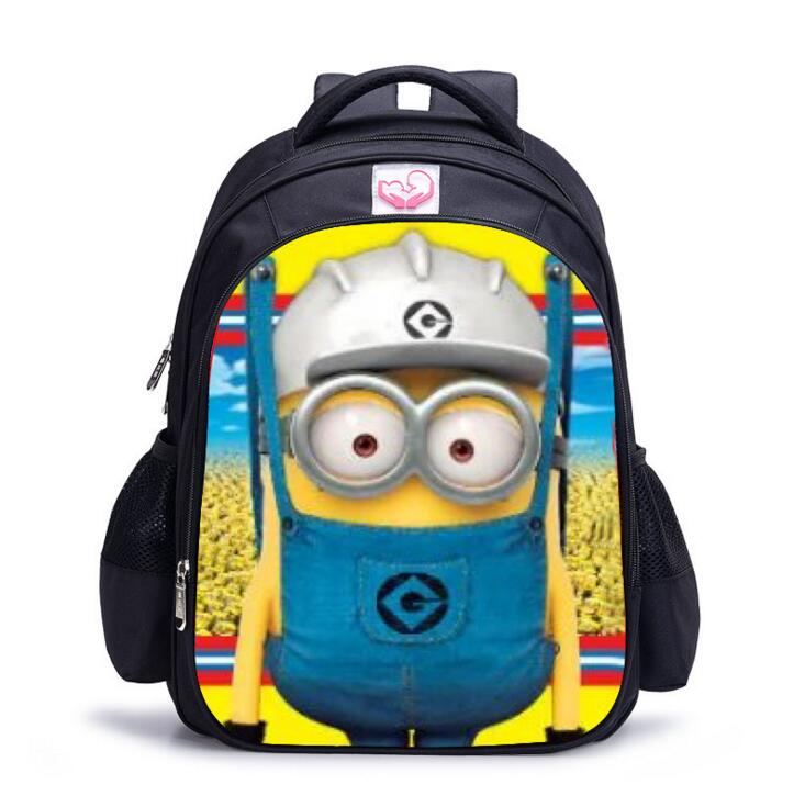 Minion Backpack 2016 Kids School Bags for Boys girls cute 3D cartoon Schoolbag Backpacks children school bags mochila escolar