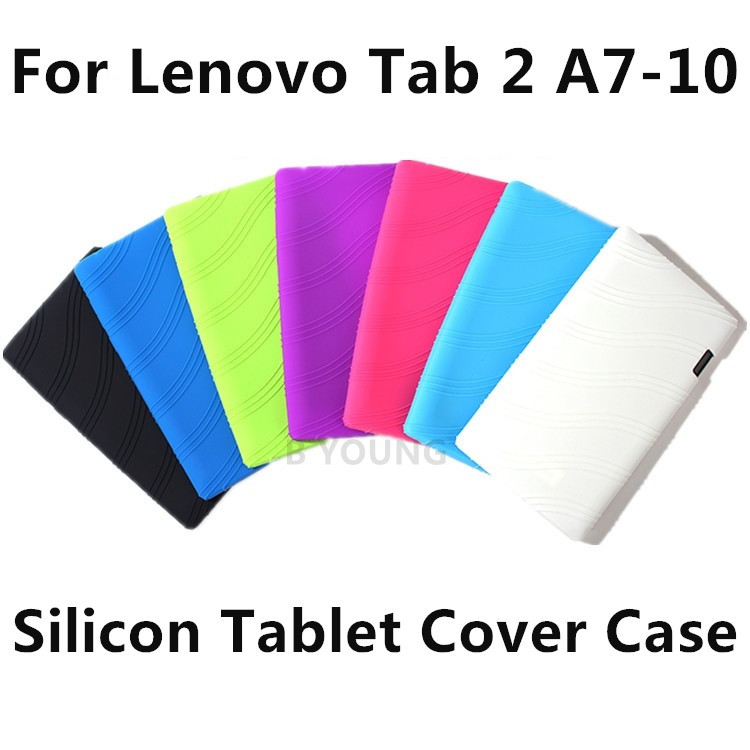 Fashion Colorful for Lenovo Tab 2 A7-10 A7-10F / A7 10 7 inch tablet cover case Silica Gel Soft Back Cases Computer Silicon Bag(China (Mainland))