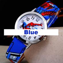 Spider cartoon watch children kids wristwatches boys clock child gift famous movie film shape wrist watches