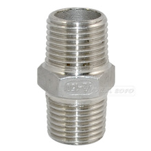 """Brand New 1/2""""Male x 1/2""""Male Hex Nipple Stainless Steel SS304 Threaded Pipe Fittings New High Quality(China (Mainland))"""