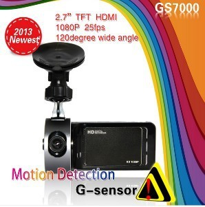 "GS7000 Car DVR GPS 2.7 "" TFT,H.264 G-Sensor,Recorder Video Dashboard Vehicle Camera"