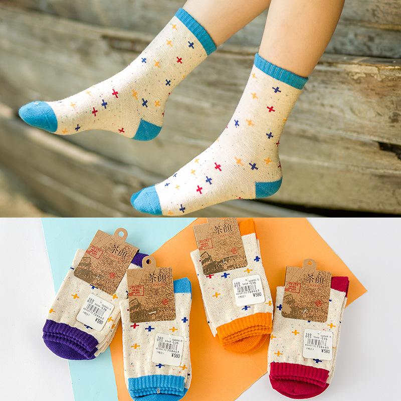 new high quality cotton autumn winter comfortable fashion knitting creative cross pattern ladies women brand harajuku socks(China (Mainland))