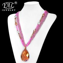 Elegant Fashion Style Retro Alloy Rhinestone Necklace Pendant Chain Choker Bib Statement Necklace(China (Mainland))