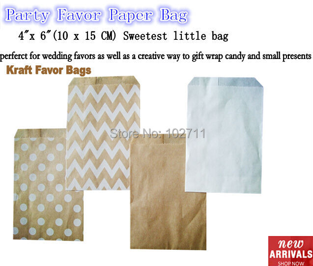 On SALE ! Small white dot kraft paper bags,polka dot goodie bags ,Food Bags,Gift Wrapping bags 10x15cm,96pcs/lot mix 2 pattern(China (Mainland))
