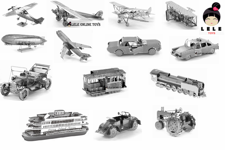 3D puzzle Sea and air transport Boeing 747 Taxi Sightseeing Titanic 3D model Stainless steel material Farm tractor Ferry steamer(China (Mainland))