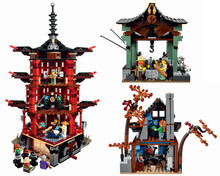 New Set of  Ninja Series Ninjagoed Warrior Temple Minifigures Educational Building Bricks Blocks Free Shipping No Box 06022(China (Mainland))