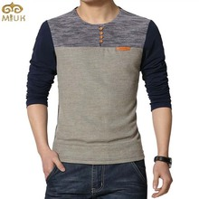 Large Size Patchwork Men T Shirt  5XL Cotton Navy Red Fitness O Neck Camisetas 2015 Autumn Spring New Men Brand Casual Tshirt