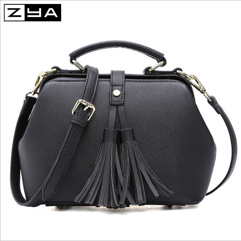 ZYA 2016 doctor bag summer fashion women bags PU leather solid ladies messenger bags versatile handbags free shipping(China (Mainland))
