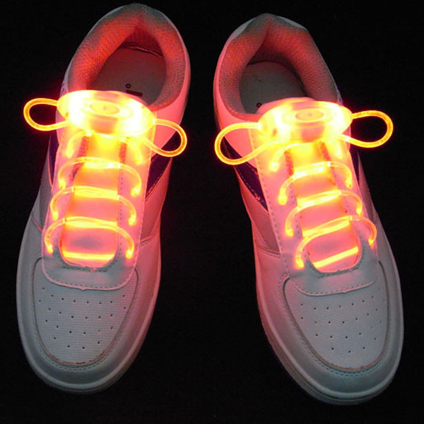 Гаджет  Boys Girls Kids Light Up LED Shoelaces Flash Party Disco Shoe Laces Shoe Strings Free Drop shipping Stock None Обувь