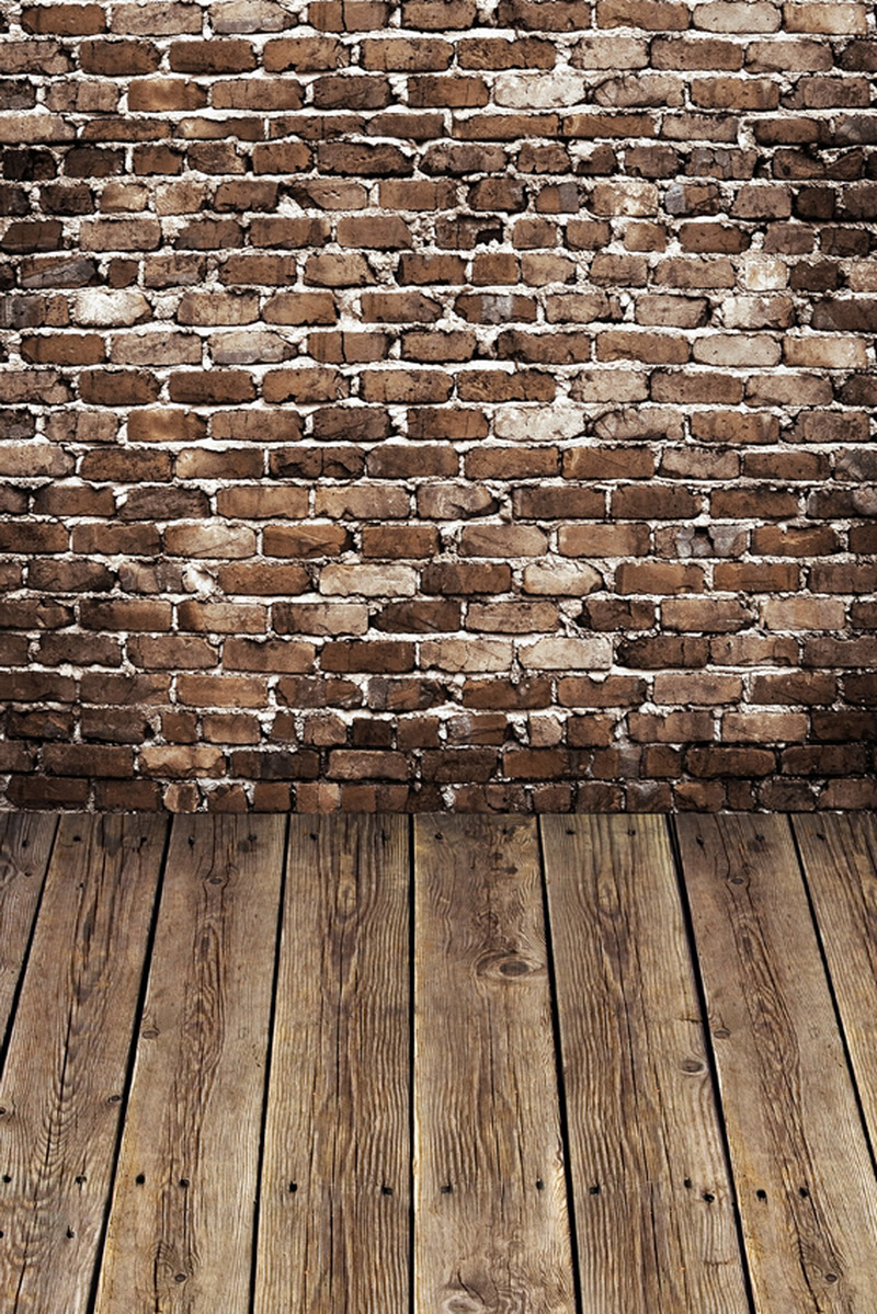 Custom Size Vintage Brick Wall With Floor Photography