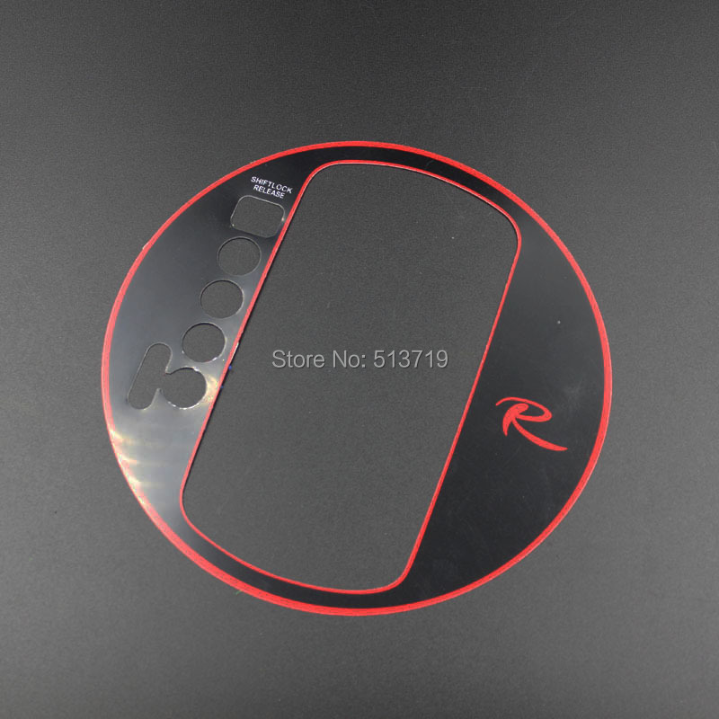 car stickers gear cover special with R label gear stick car accesories interior accessories for KIA Sportage R 1pcs(China (Mainland))