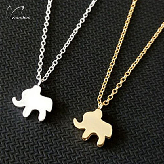 Wholesale 30 pcs/lot 2014 18K Gold Plated Charm Animal Jewelry Baby Elephant Pendant Necklace for Women<br><br>Aliexpress