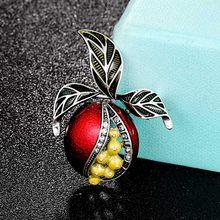 Zlxgirl Perhiasan Kuning Merah Hijau Enamel Buah Bros Pria Paduan Tanaman Perjamuan Pesta Bros Perempuan Tas Topi Aksesoris Broches(China)