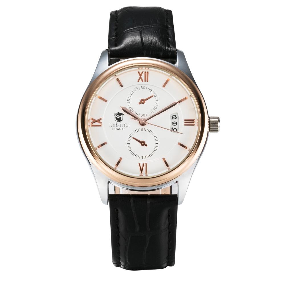 Luxury Gold Business Watch Men Hot Brand Quartz Watch Auto Calendar Wristwatch Living Activity Waterproof Relogio Masculino(China (Mainland))