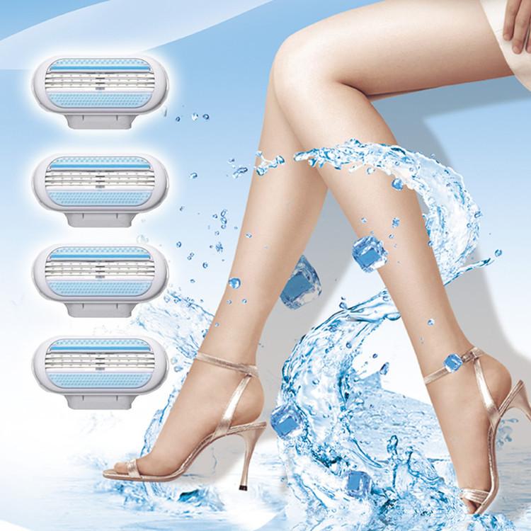 4pcs/lot Razor Blade for Women Shaving AAAAA Best Quality Grade Trimmer Razor Blades(China (Mainland))