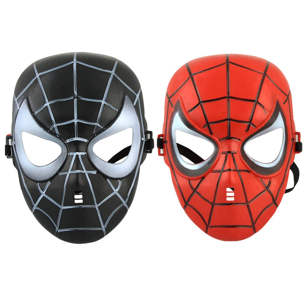 Newest Hot Spiderman Mask Halloween Christmas Party Masks 2 colors(Black, Red) for Adult & Kids Mask(China (Mainland))