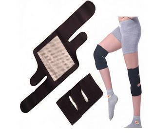Tourmaline magnetic knee Support self heating kneepad Magnetic Therapy tourmaline Belt Therapy Spontaneous Heating Pad 1 pair(China (Mainland))