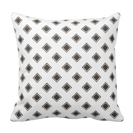 Easy Dark Taupe Geometric Classy Pillow Case (Size: 20