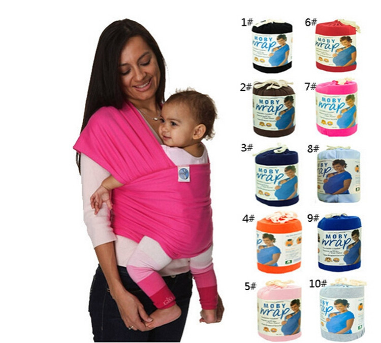 Original Cotton Baby Carrier Stretchy Wrap Brith-3 Years Toddle Wrap Rider Kangaroo Backpack Baby Sling Mochilas Ergonomicas (1)