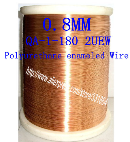 0.8mm *100m / pcs QA-1-180 2UEW Magnet Wire Enameled Copper wire Magnetic Coil Winding(China (Mainland))