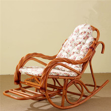 Luxury Rocking Chair With Cushions Rattan Wicker Furniture Indoor Living  Room Glider Recliner Modern Rattan Easy Chair Part 96