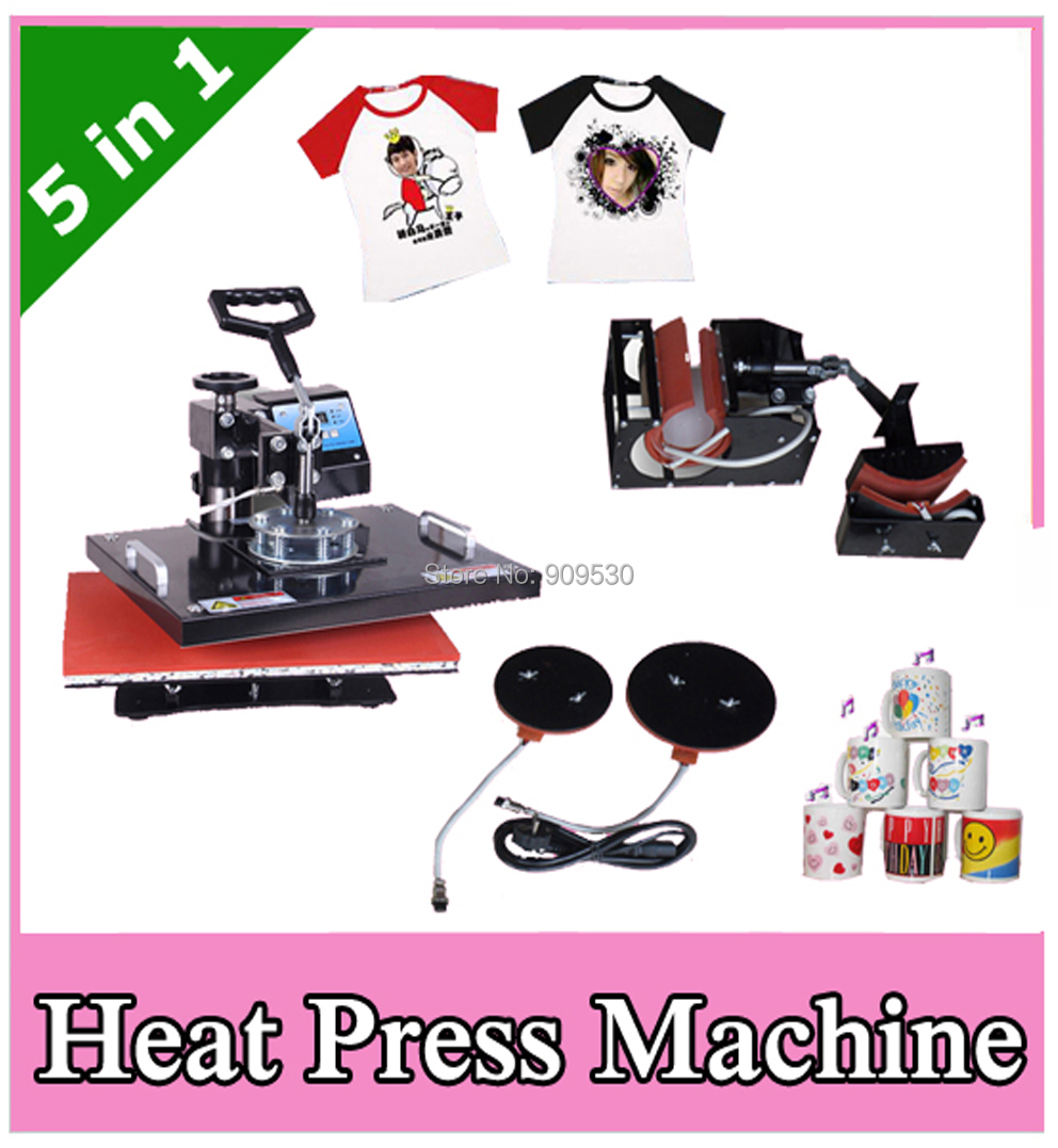 2012 New model Sublimation heat press transfer machine 5 in 1(China (Mainland))