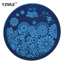 1 PC Fashion JQ25 Nail Art Stamp Stamping Plates Manicure Template, 75 Styles For Choose (JQ-25)
