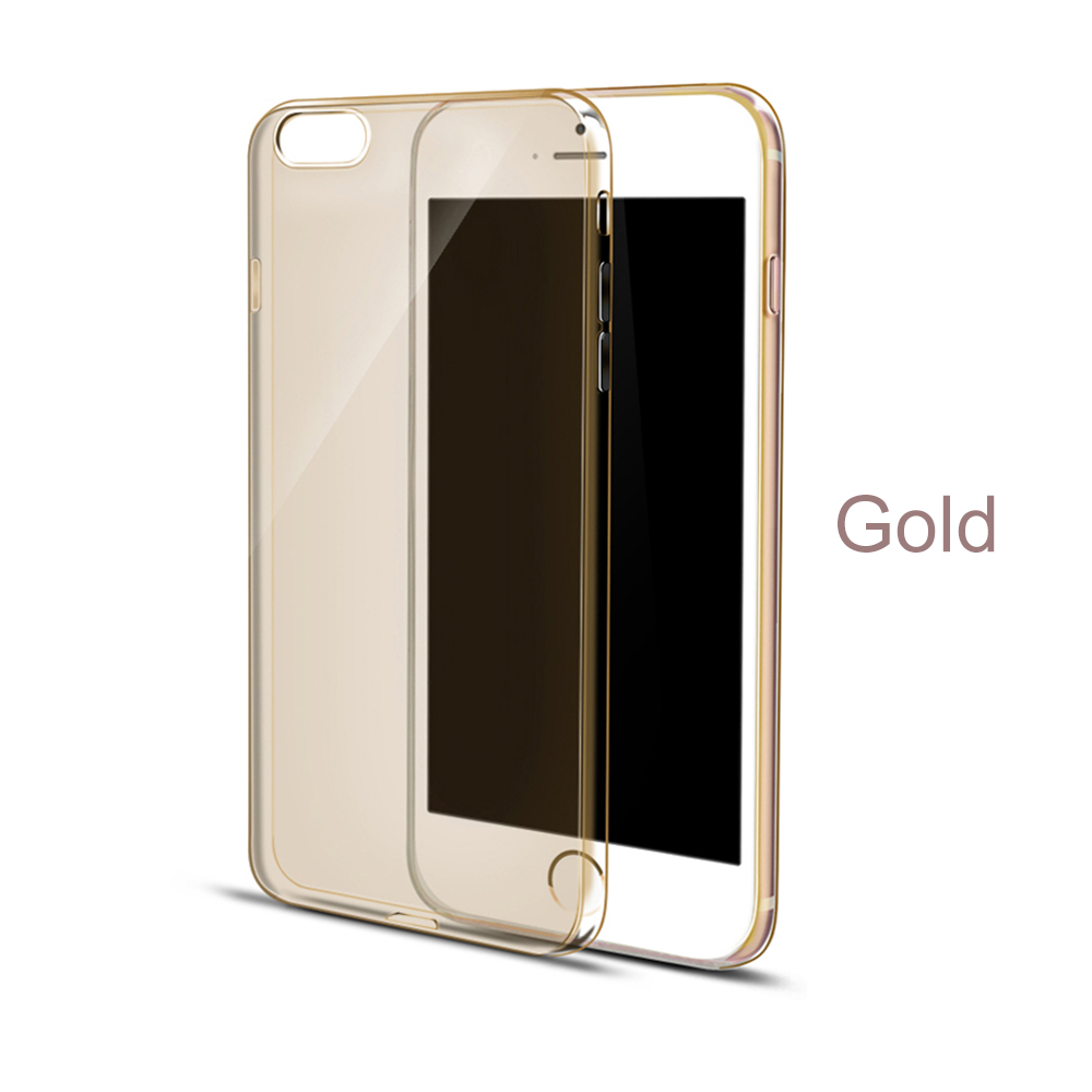 Coloful Ultrathin 0.5mm Slim Soft Transparent TPU Silicone Cover Case For iPhone 6s 6 Plus With Crystal Clear Case Cover(China (Mainland))