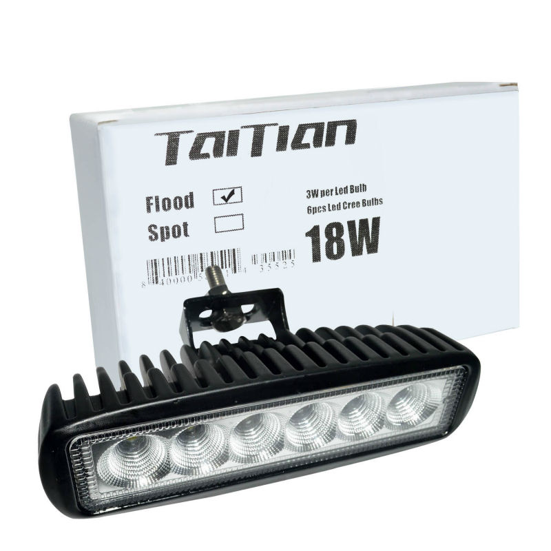 "Taitian 6"" 18W LED Work Light Lamp Flood Spot Beam for Motorcycle Tractor Boat Off Road 4WD 4x4 Truck SUV ATV Spot Flood 12v 24v(China (Mainland))"