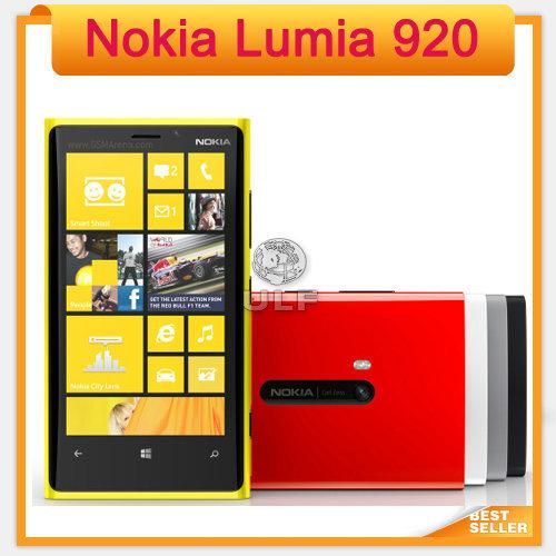 Original Lumia 920 Unlocked 3G/4G Nokia 920 Windows Mobile Phone ROM 32GB 8.7MP GPS WIFI Bluetooth Free Shipping(China (Mainland))