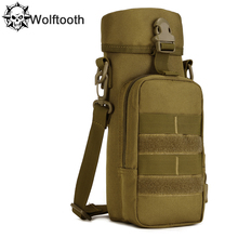 New Molle Outdoors Tactical Shoulder Bag Gear 750ml Water Bottle Pouch Kettle Waist Bag For Army Fans Sport Water Bottle Bags