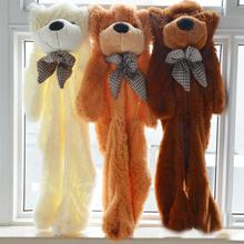 1 Piece  80cm to 200cm large bear skin the toy plush white Teddy Bear skin Huge Soft shell only big plush toys(China (Mainland))