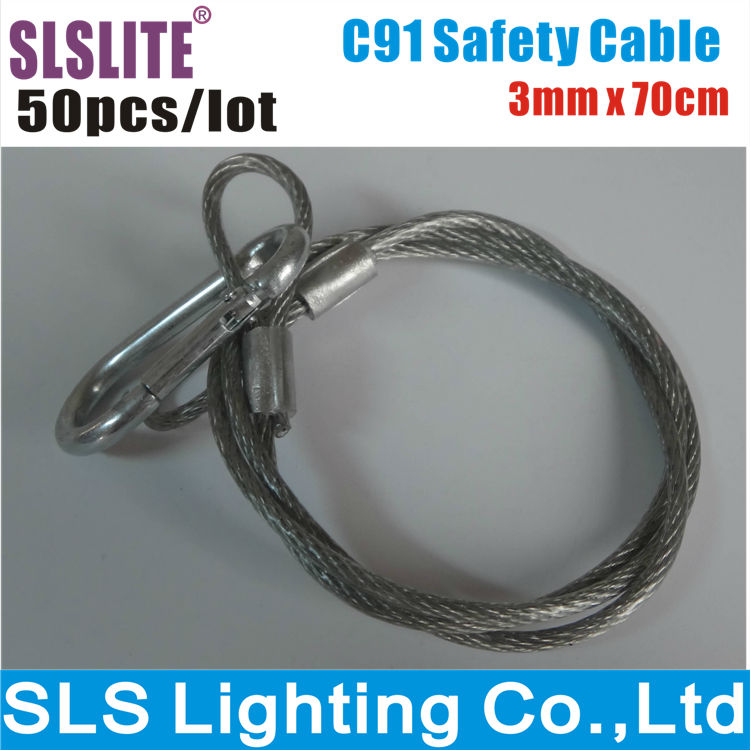 50PCS/LOT Stage Lighting Safety Cables lighting safety cable/safety cable for stage lighting/steel safety cable(China (Mainland))
