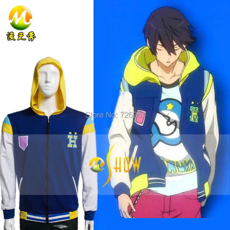 Free!Iwatobi Swim Club Anime Role Coat Cosplay Costumes Haruka Nanase Nagisa Hazuki Navy blue Hoodie Jacket - M-Show Store store
