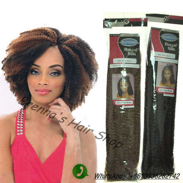 Kinky Twist Crochet Hair Styles : synthetic afro kinky twist crochet hair Afro twist crochet braids hair ...