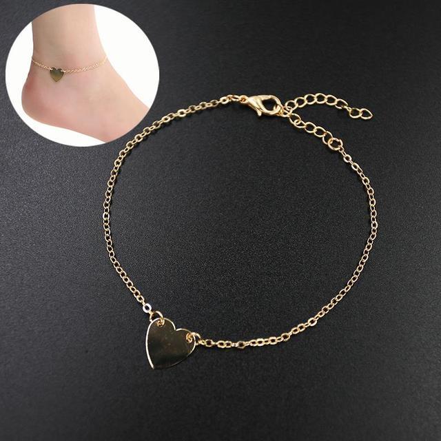 1 шт. сексуальная мода украшения золото-тон любовь в форме сердца ножной браслет ...