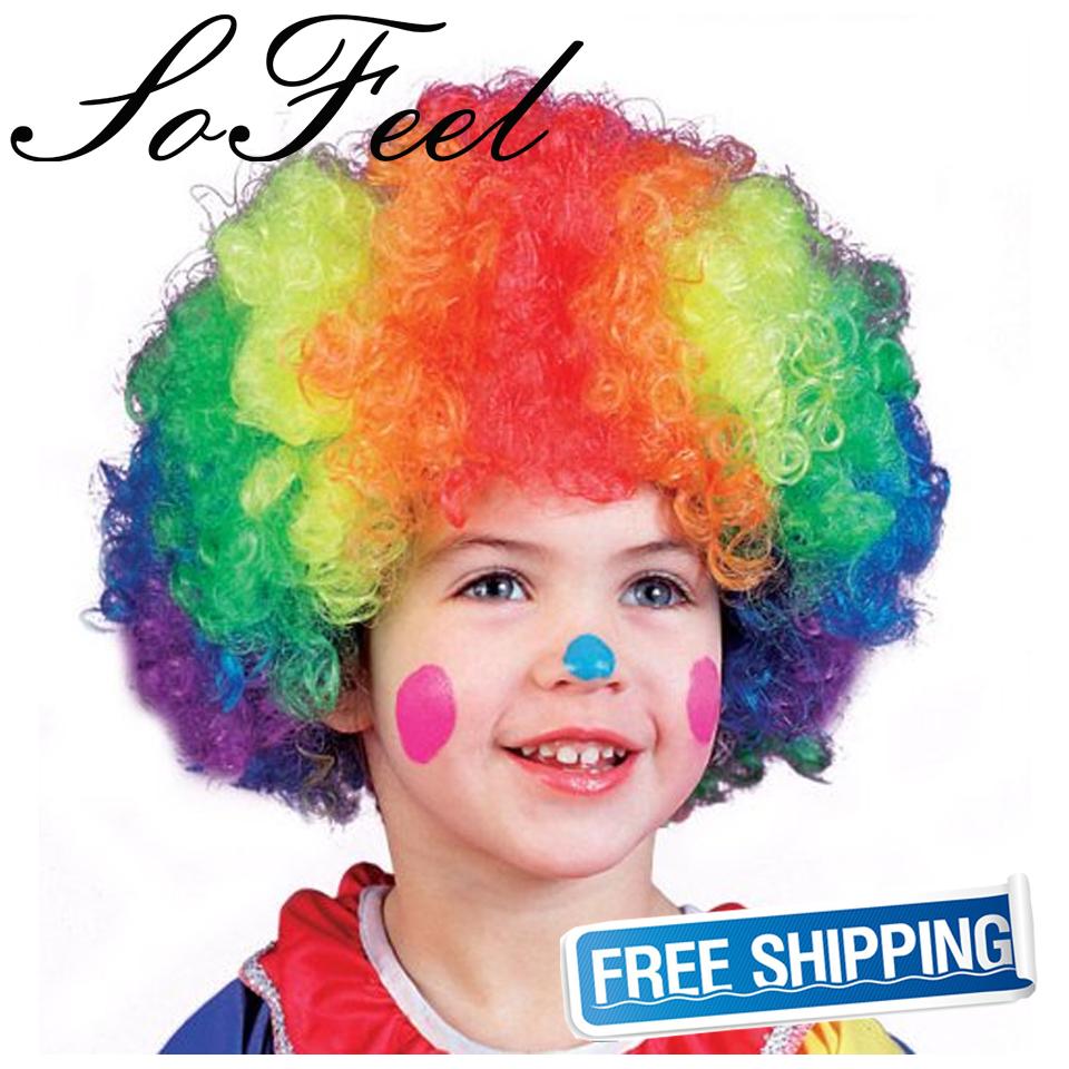 Сделать парик клоуна