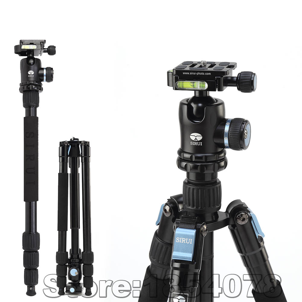 New Professional Sirui W1004 Portable Waterproof Tripod for DSLR Camera + K10X Ball Head Photography Tripod Monopod Stable Stand(China (Mainland))
